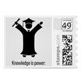 knowledge is power photo stamp