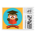 wise owl grad photo stamp