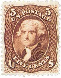 1862 thomas jefferson stamp