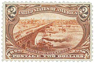 1898 stamp mississippi bridge