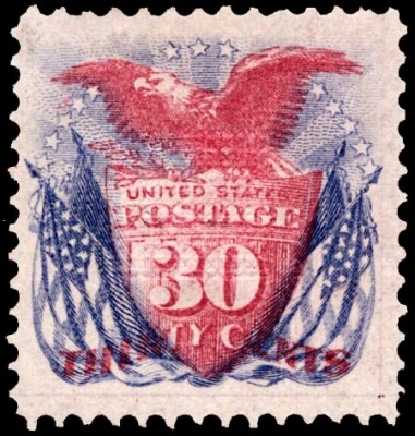 shield eagle and flag stamp